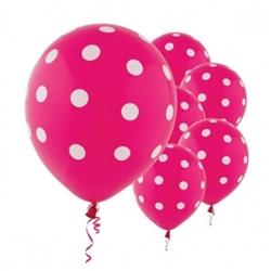 Pink Dot Latex Balloons | Party Supplies