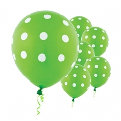 Kiwi Dot Latex Balloons | Party Supplies