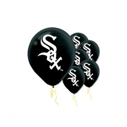 Chicago White Sox Latex Balloons | Party Supplies