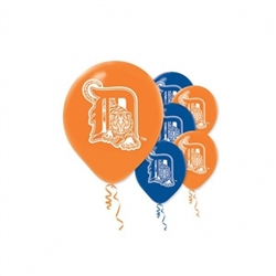 Detroit Tigers Latex Balloons | Party Supplies