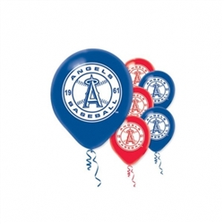 Los Angeles Angels Latex Balloons | Party Supplies