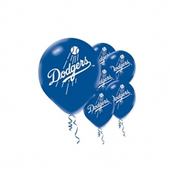 Los Angeles Dodgers Latex Balloons | Party Supplies