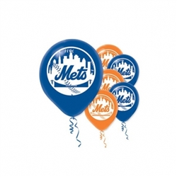 New York Mets Latex Balloons | Party Supplies