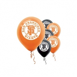San Francisco Giants Latex Balloons | Party Supplies