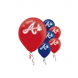 Atlanta Braves Latex Balloons | Party Supplies
