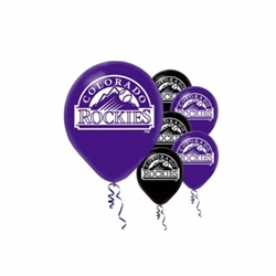 Colorado Rockies Latex Balloons | Party Supplies