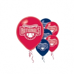 Washington Nationals Latex Balloons | Party Supplies