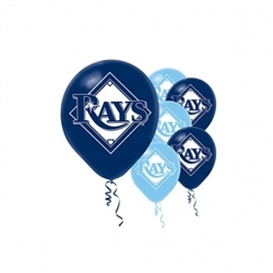 Tampa Bay Rays Latex Balloons | Party Supplies