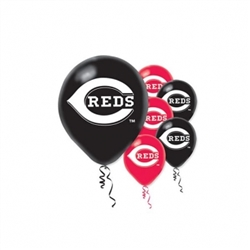 Cincinnati Reds Latex Balloons | Party Supplies