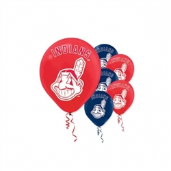 Cleveland Indians Latex Balloons | Party Supplies