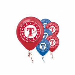 Texas Rangers Latex Balloons | Party Supplies