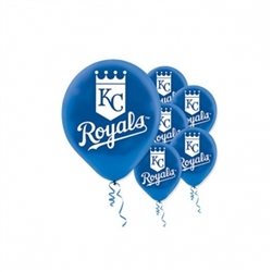 Kansas City Royals Latex Balloons | Party Supplies