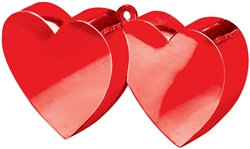 Double Heart Balloon Weight  |party supplies