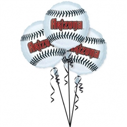 Arizona Diamondbacks 3-Pack Balloons | Party Supplies