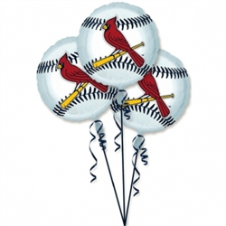 St. Louis Cardinals 3-Pack Balloons | Party Supplies