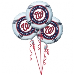 Washington Nationals 3-Pack Balloons | Party Supplies