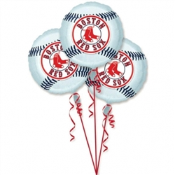 Boston Red Sox 3-Pack Balloons | Party Supplies