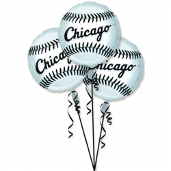 Chicago White Sox 3-Pack Balloons | Party Supplies