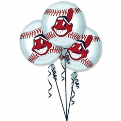 Cleveland Indians 3-Pack Balloons | Party Supplies
