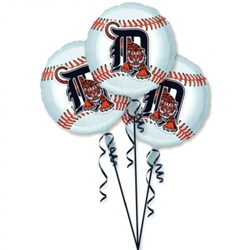 Detroit Tigers 3-Pack Balloons | Party Supplies