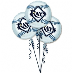 Tampa Bay Rays 3-Pack Balloons | Party Supplies