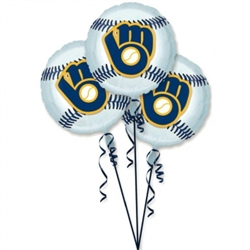 Milwaukee Brewers 3-Pack Balloons | Party Supplies