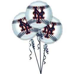 New York Mets 3-Pack Balloons | Party Supplies