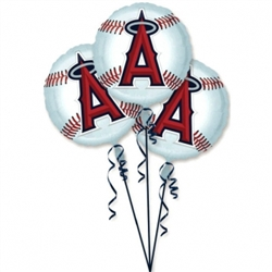 LA Angels 3-Pack Balloons | Party Supplies