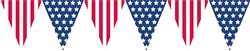 Patriotic Pennant Banner | 4th of July Party Supplies