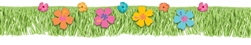 Hibiscus Fringe Banner with Paper & Fabric Flowers | Luau Party Supplies