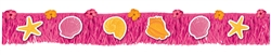 Summer Shells Paper Fringe Banner | Luau Party Supplies