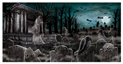 Cemetery Horizontal Banner | Party Supplies