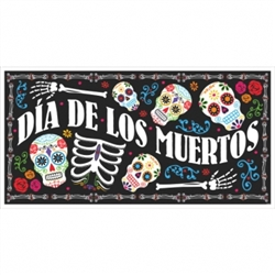 Black & Bone Large Horizontal Banner | Halloween Party Supplies