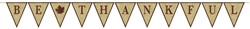Be Thankful Burlap Pennant Banner w/Glitter | Party Supplies