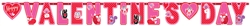 Valentine Woodland Friends Giant Illustrated Letter Banner | Party Supplies