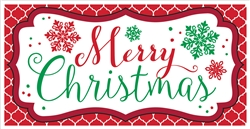Merry Christmas Horizontal Banner | Party Supplies