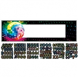 Disco Fever Personalize It! Giant Sign Banner | Party Supplies