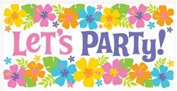 Summer Party Horizontal Plastic Banner | Party Supplies