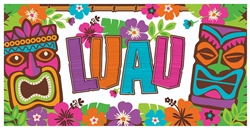 Summer Luau Horizontal Banner | Luau Party Supplies