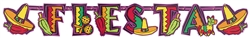 Fiesta Party Illustrated Letter Banner | Party Supplies