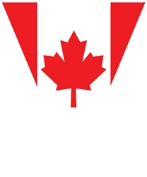 Canadian Flag Plastic Pennant Banner | Party Supplies