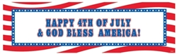 Patriotic Personalized Giant Sign Banner | 4th of July Party Supplies