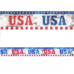 Patriotic Foil Banner | Party Supplies