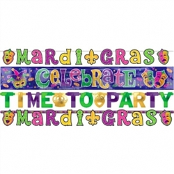 Mardi Gras Letter Banner Combo | Green, Gold, Purple Party Decorations