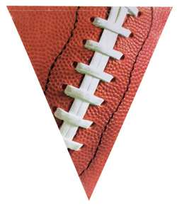 Football Pennant Plastic Banner | Football Party Supplies