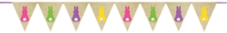 Bunny Burlap Banner | Party Supplies