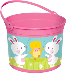 Easter Large Pink Bucket | Party Supplies
