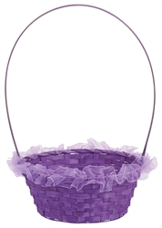 Purple Ruffled Basket | Easter