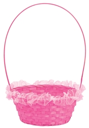 Pink Ruffled Basket | Easter | Party Supplies