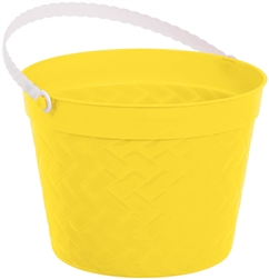 Yellow Weave Bucket | Easter